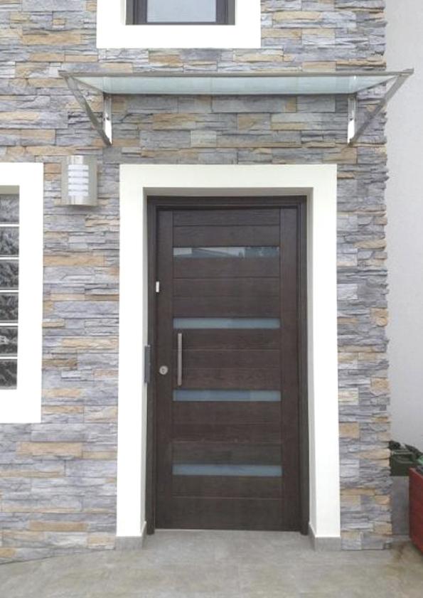 Puerta entrada madera elegant puerta exterior de madera for Puertas entrada exterior
